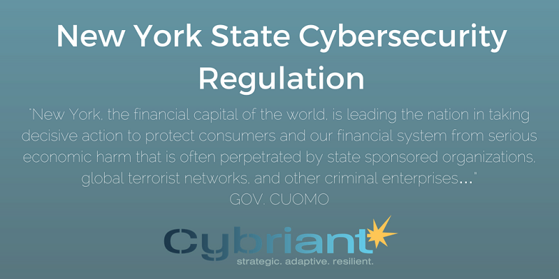 New York State Cybersecurity Regulation