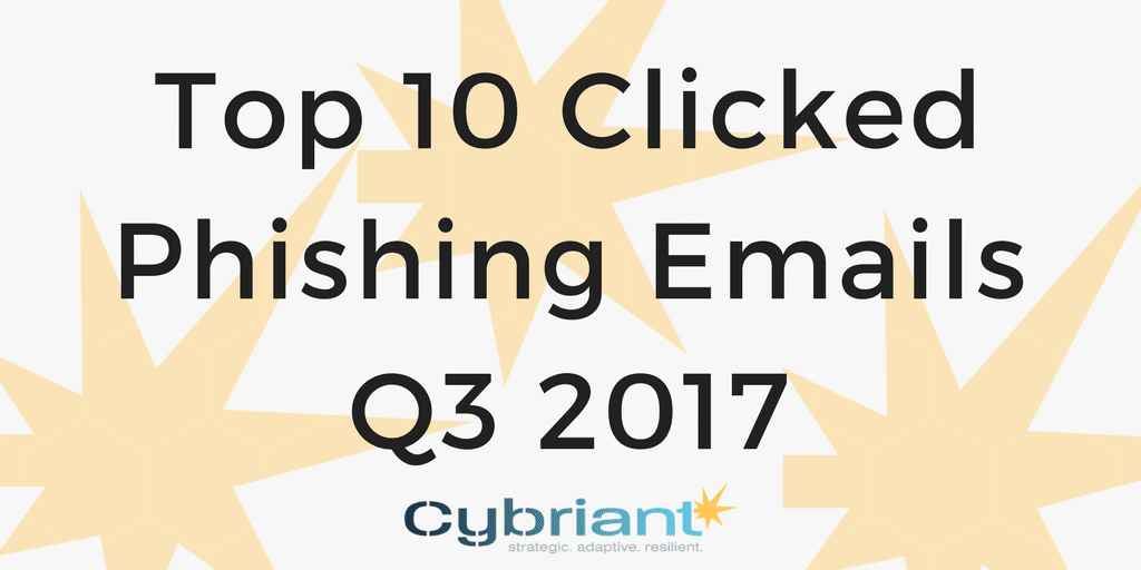Q3 2017 Top Clicked Phishing Emails