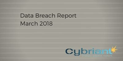 March 2018 Data Breach Update