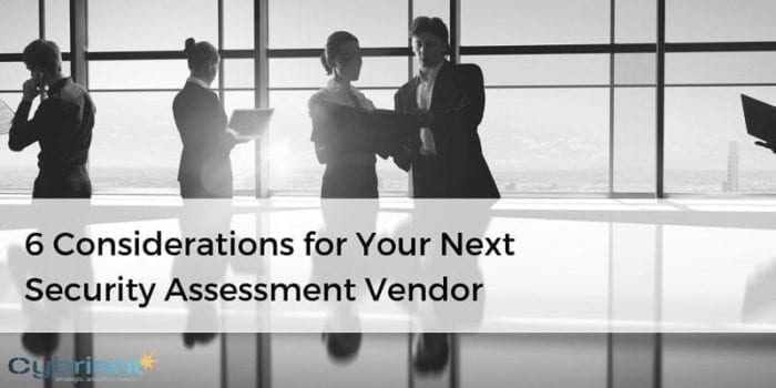 security assessment vendor