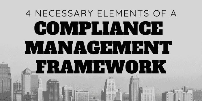 compliance management framework